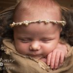 newborn baby photographer - Sandbach, Cheshire - wrapped baby girl, halo, love rosalie