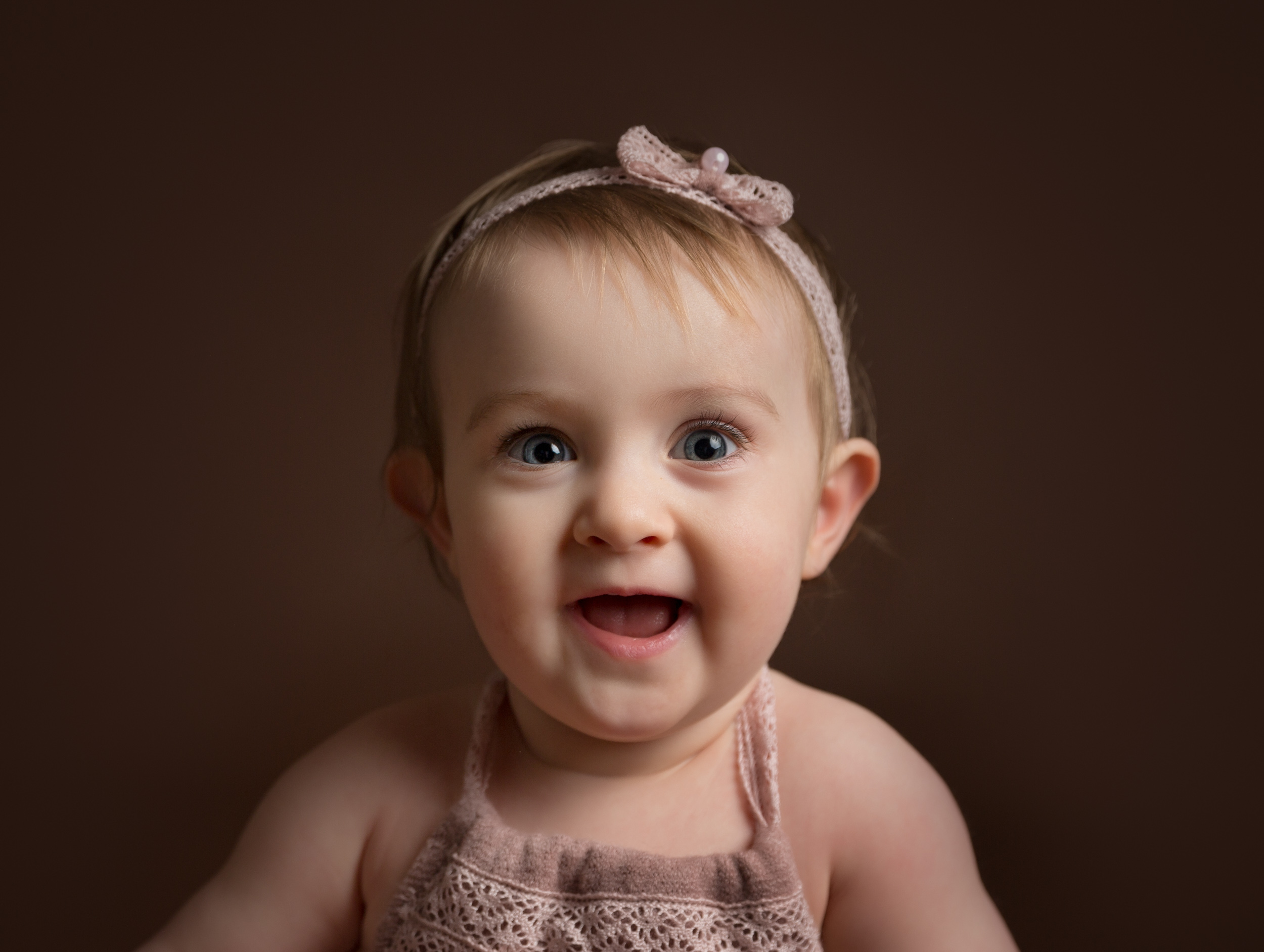 Close up of a little girl on her birthday photo shoot in Cheshire