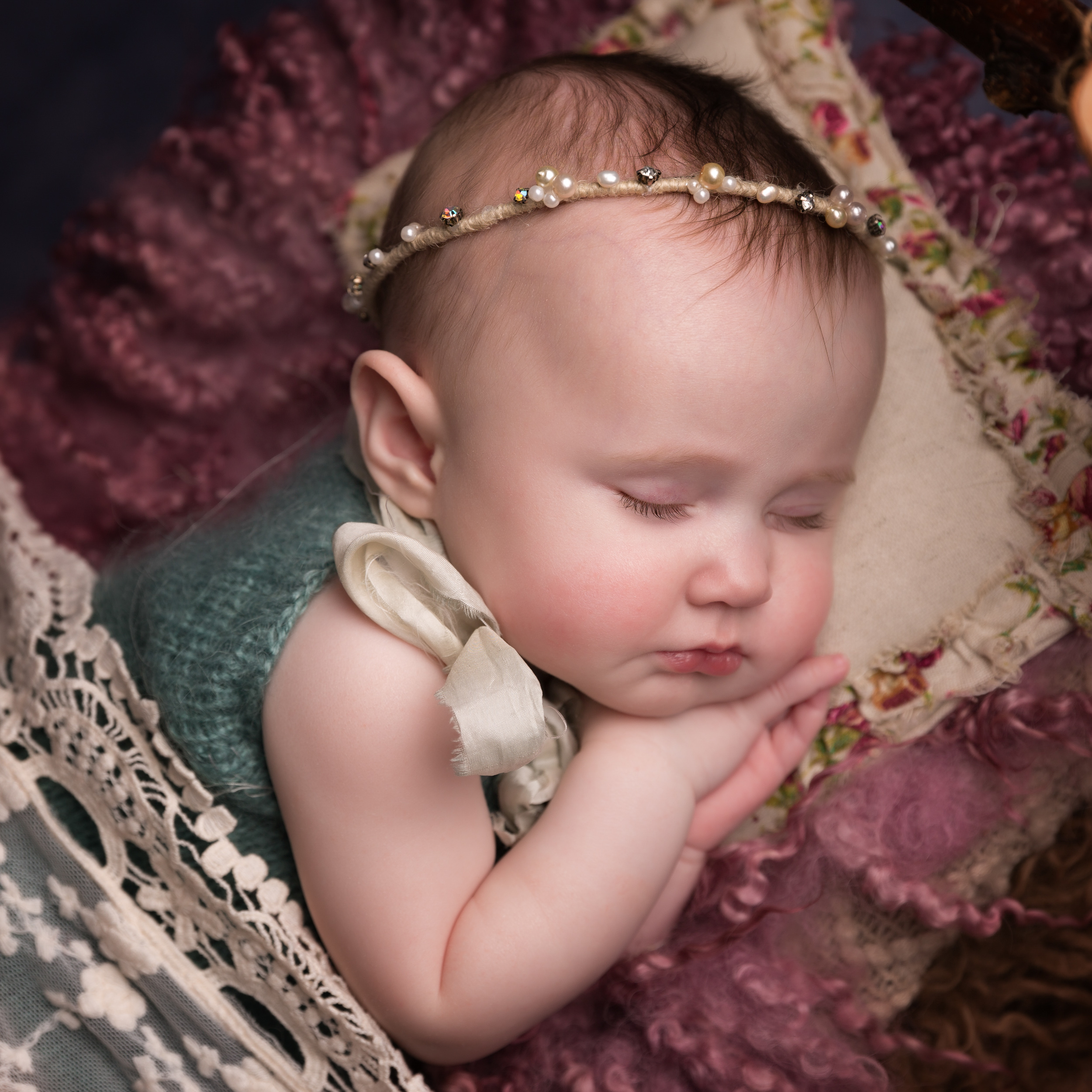 Sleeping beauty themed sitter session in Sandbach, Cheshire